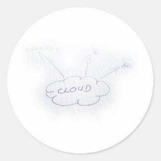 Proyecto de la nube pegatinas redondas