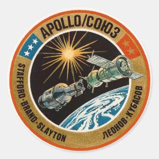 Proyecto de la prueba de Apolo-Soyuz Etiquetas Redondas