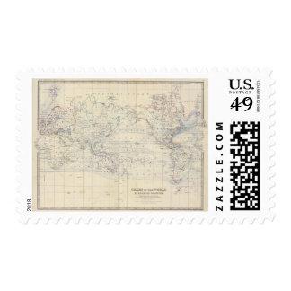 Proyecto de Mercators del mundo Timbre Postal