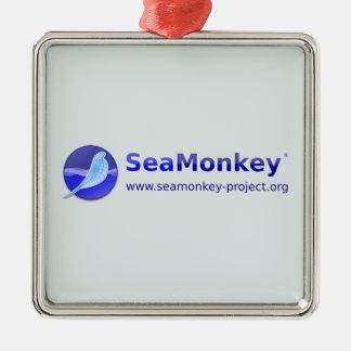 Proyecto de SeaMonkey - logotipo horizontal Adorno Navideño Cuadrado De Metal