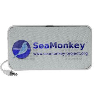 Proyecto de SeaMonkey - logotipo horizontal Laptop Altavoces