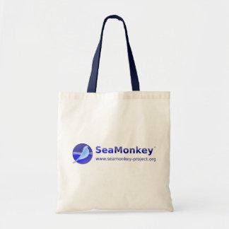 Proyecto de SeaMonkey - logotipo horizontal Bolsas Lienzo
