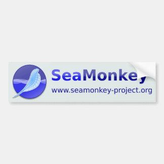 Proyecto de SeaMonkey - logotipo horizontal Pegatina De Parachoque