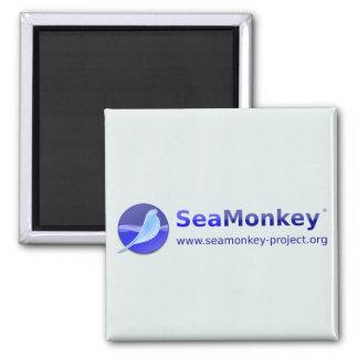 Proyecto de SeaMonkey - logotipo horizontal Imán Cuadrado