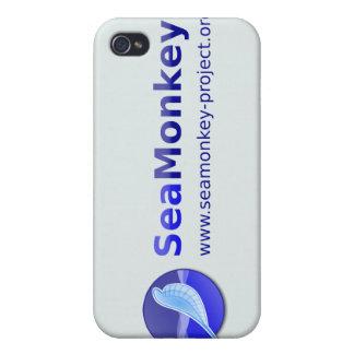 Proyecto de SeaMonkey - logotipo horizontal iPhone 4/4S Fundas