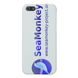 Proyecto de SeaMonkey - logotipo horizontal iPhone 5 Fundas