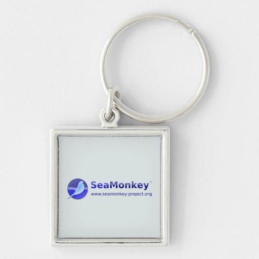 Proyecto de SeaMonkey - logotipo horizontal Llaveros Personalizados