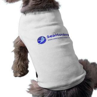 Proyecto de SeaMonkey - logotipo horizontal Playera Sin Mangas Para Perro