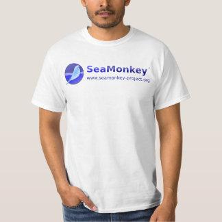 Proyecto de SeaMonkey - logotipo horizontal Playeras