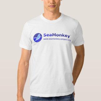 Proyecto de SeaMonkey - logotipo horizontal Polera