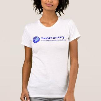 Proyecto de SeaMonkey - logotipo horizontal Poleras