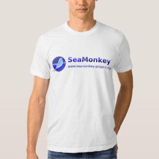 Proyecto de SeaMonkey - logotipo horizontal Remera