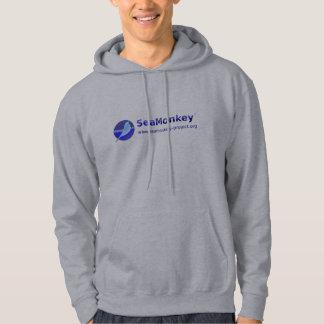 Proyecto de SeaMonkey - logotipo horizontal Sudadera Con Capucha