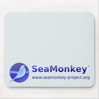 Proyecto de SeaMonkey - logotipo horizontal Alfombrillas De Ratón