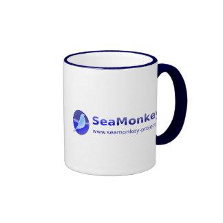 Proyecto de SeaMonkey - logotipo horizontal Taza De Dos Colores