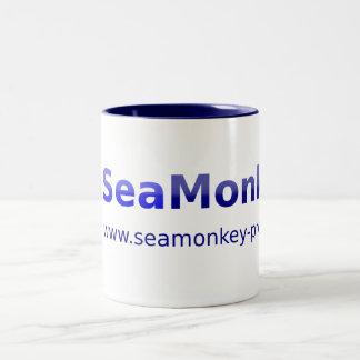 Proyecto de SeaMonkey - logotipo horizontal Taza De Dos Tonos
