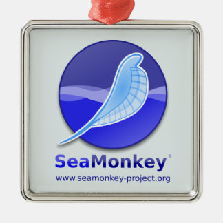 Proyecto de SeaMonkey - logotipo vertical Adorno Navideño Cuadrado De Metal