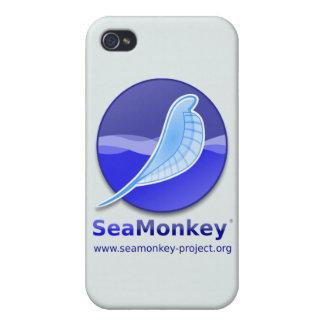Proyecto de SeaMonkey - logotipo vertical iPhone 4 Protectores