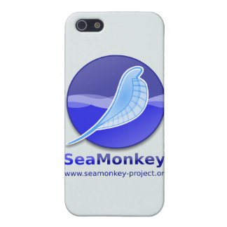 Proyecto de SeaMonkey - logotipo vertical iPhone 5 Fundas