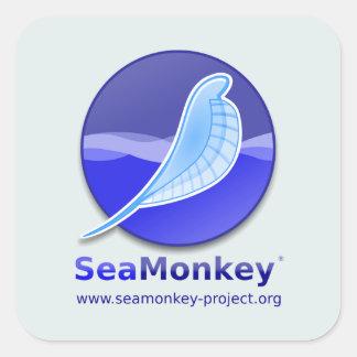 Proyecto de SeaMonkey - logotipo vertical Pegatina Cuadrada