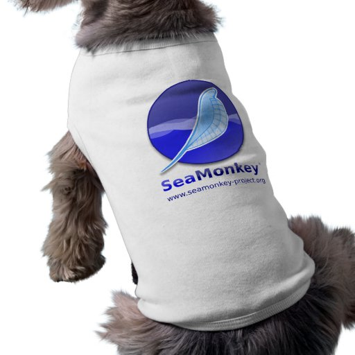 Proyecto de SeaMonkey - logotipo vertical Playera Sin Mangas Para Perro
