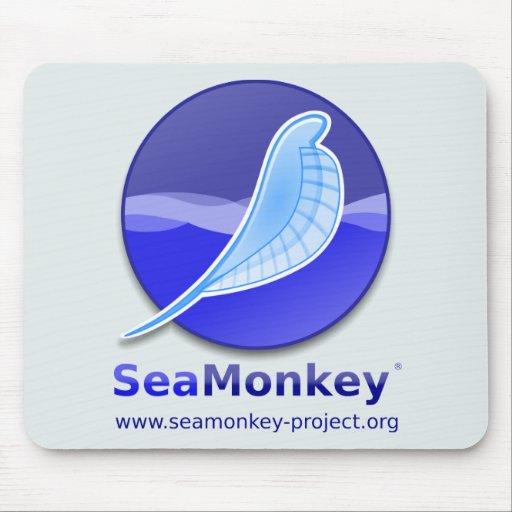 Proyecto de SeaMonkey - logotipo vertical Tapete De Raton