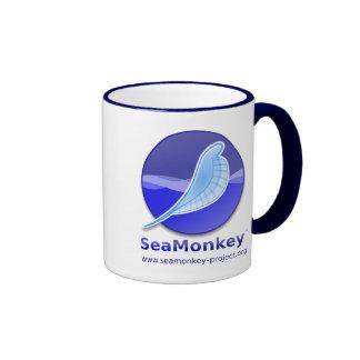 Proyecto de SeaMonkey - logotipo vertical Tazas De Café