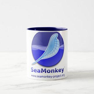 Proyecto de SeaMonkey - logotipo vertical Taza De Café De Dos Colores