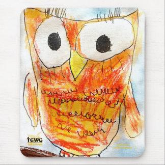Proyecto del arte de la juventud del búho el | del mouse pad