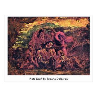 Proyecto del Pieta de Eugene Delacroix Postal