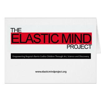 Proyecto elástico de la mente tarjeta