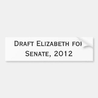 Proyecto Elizabeth para el senado, 2012 Pegatina Para Auto