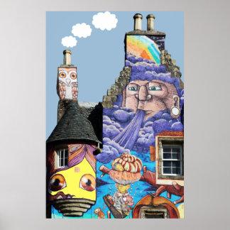 Proyecto Fairlie Escocia de la pintada del castill Impresiones