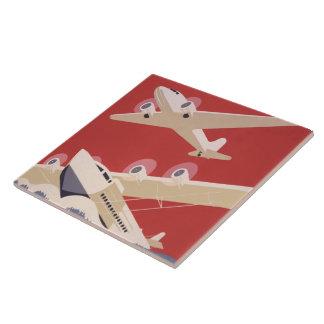 Proyecto federal del arte de WPA del jet del aerop Azulejo Cuadrado Grande
