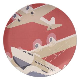 Proyecto federal del arte de WPA del jet del aerop Platos Para Fiestas