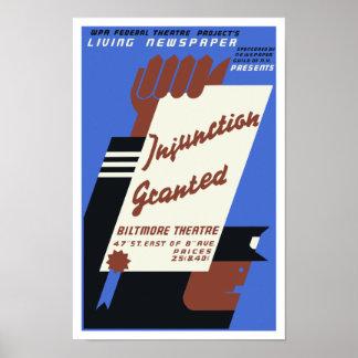 Proyecto federal del teatro -- Prescripción conced Poster
