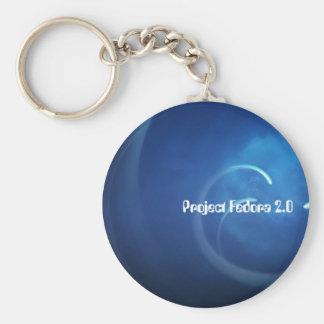 Proyecto Fedora 2,0 Llavero Redondo Tipo Pin