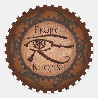 Proyecto Khopesh Pegatina Redonda