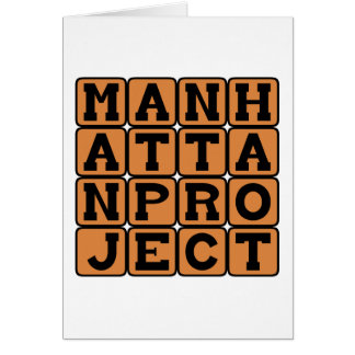 Proyecto Manhattan, proyecto secretísimo WW2 Tarjeta De Felicitación