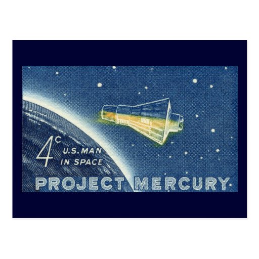 Proyecto Mercury, hombre de los E.E.U.U. en espaci Postales