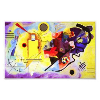 Proyecto original rojo amarillo de Kandinsky Cojinete