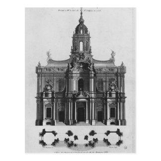 Proyecto para la iglesia del Santo-Sulpice Postal