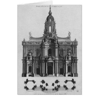 Proyecto para la iglesia del Santo-Sulpice Tarjeta De Felicitación