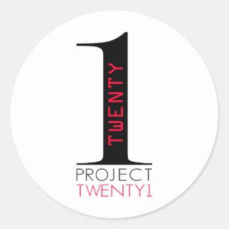 Proyecto Twenty1 Pegatina Redonda
