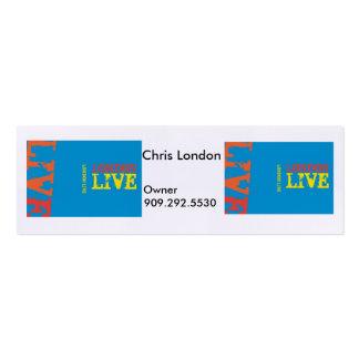 Proyecto vivo de Londres (2) Tarjetas De Visita Mini