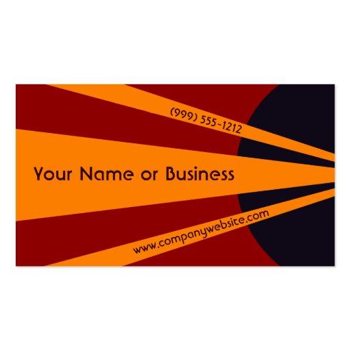 Proyector abstracto anaranjado intrépido tarjetas personales