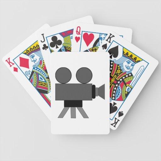 Proyector de película de cine barajas de cartas
