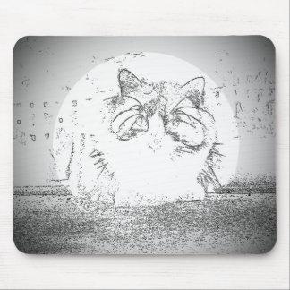 Proyector del gato del fantasma mouse pads