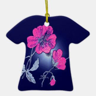 Proyector en la flor rosada, diseño gráfico traser ornamento de reyes magos