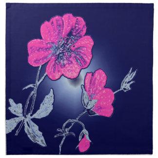 Proyector en la flor rosada, diseño gráfico traser servilleta de papel